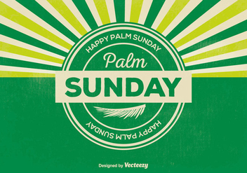 Retro Palm Sunday Illustration - бесплатный vector #366151