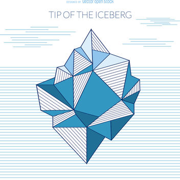 Iceberg geometric drawing - vector gratuit #366171