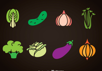Vegetables Vector Sets - Kostenloses vector #366231