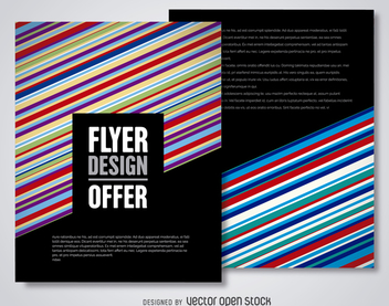 Modern flyer template - vector gratuit #366241