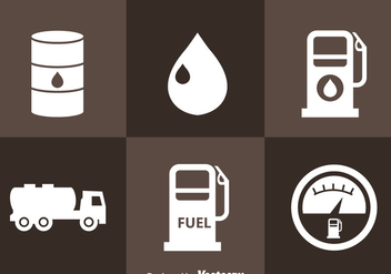 Gasoline Station Icons - бесплатный vector #366281