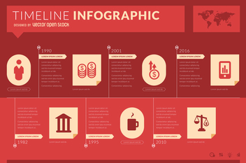Infographic timeline mockup - Free vector #366321