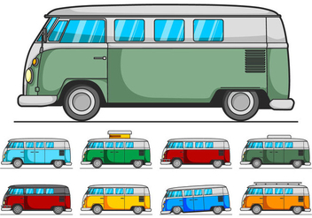VW Camper Vector Pack - бесплатный vector #366371