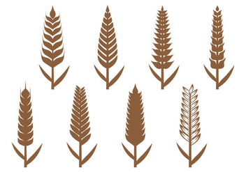 Wheat Ears Icon - Free vector #366471