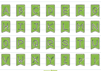 Cute Hand Drawn Style Alphabet Set - Free vector #366521