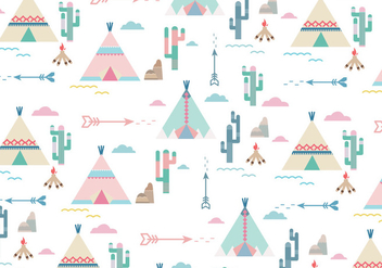 Teepee Pattern vector - Free vector #366531