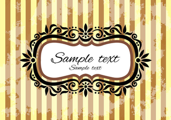 Free Vintage Frame Vector - Free vector #366541