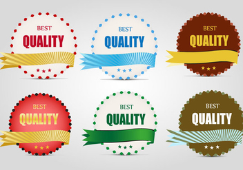 Free Quality Labels Vector - vector #366571 gratis