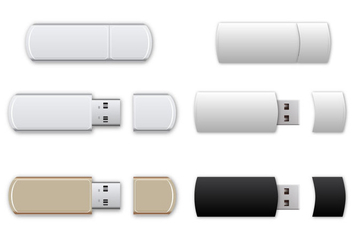 Free USB Flash Drive Vector - vector #366601 gratis