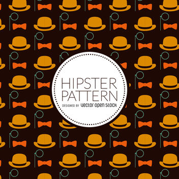 Hipster elements pattern - Free vector #366651