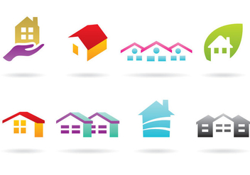 House And Roof Logos - vector gratuit #366781