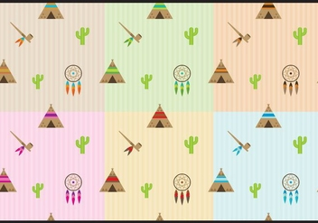 Native American Patterns - vector #366811 gratis