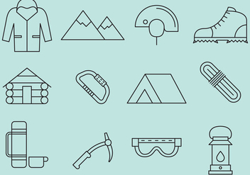 Mountaineer Line Icons - vector gratuit #366821