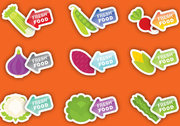 Fresh Vegetable Labels - vector gratuit #366841