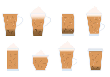 Iced Coffee Variant - vector gratuit #366961