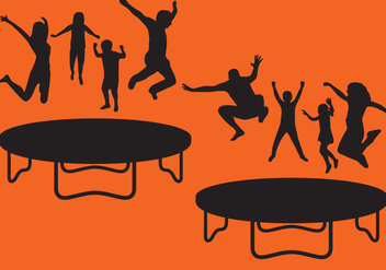 Trampoline Silhouettes - Free vector #366971
