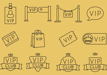 VIP Line Icons - Free vector #367001