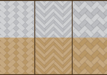 Stone Herringbone Patterns - vector gratuit #367021
