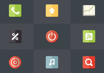 Free Flat Icon Set 06 Vector - Free vector #367031