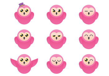 Barn Owl Emoticon - vector #367051 gratis