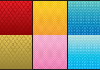 Fish Scale Patterns - vector gratuit #367131