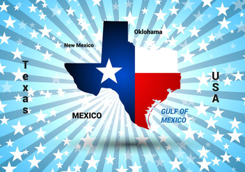 Free Texas Map Vector - бесплатный vector #367181