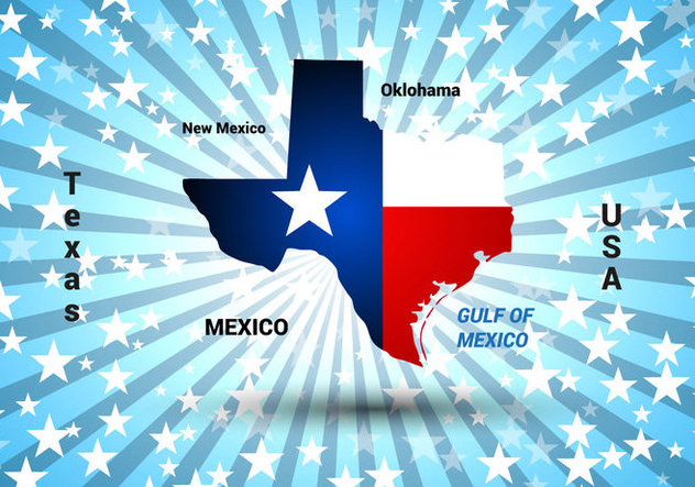 Free Texas Map Vector - vector gratuit #367181