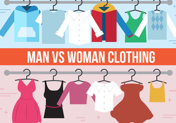 Free Man VS. Woman Vector Clothing - vector #367231 gratis