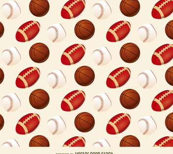 Baseball basketball and football pattern - vector #367341 gratis