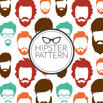 Hipster beard pattern - Free vector #367351