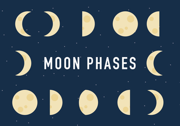 The Moon Phases Process Vector - Free vector #367451