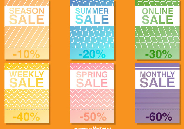 Seasonal Sale Poster Vector Templates - vector gratuit #367471