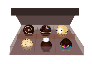Box of Truffles Vector - Free vector #367491