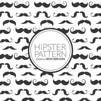Hipster moustache seamless pattern - Kostenloses vector #367581