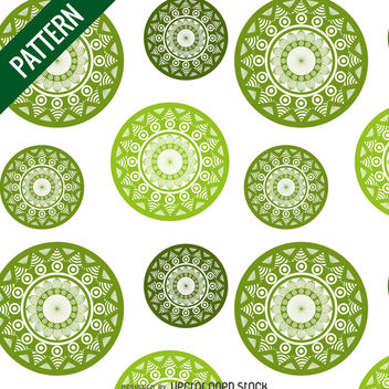 Green mandala pattern - Free vector #367591