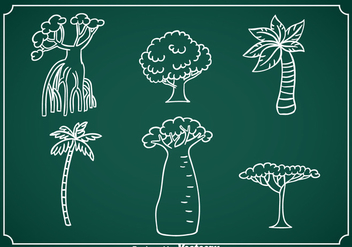 Exotic Tree Hand Drawn Vector - Free vector #367631