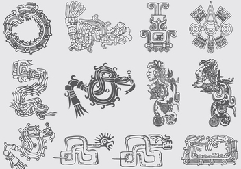 Quetzalcoatl Illustrations - бесплатный vector #367641