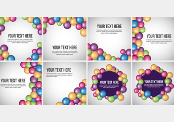 Free Smarties Candy Background Vectors - vector gratuit #367671