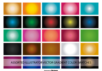 Illustrator Gradient Color Swatches - vector #367791 gratis