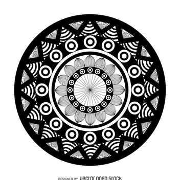 Geometric mandala drawing - Free vector #367901