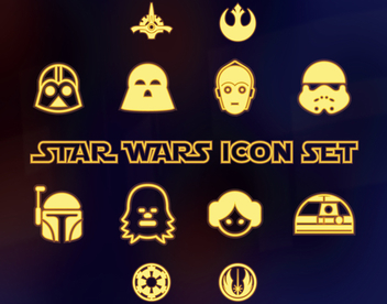 Star Wars icon collection - vector gratuit #367931