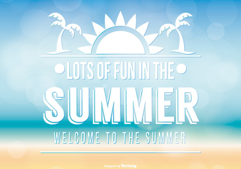 Typographic Summer Background - Kostenloses vector #367971