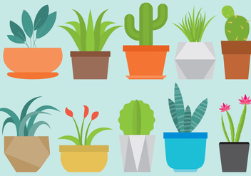 Home Plants - vector gratuit #368131
