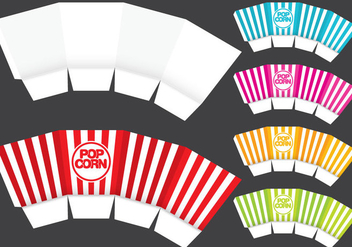 Popcorn Box Template - vector #368261 gratis