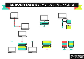 Server Rack Free Vector Pack - Kostenloses vector #368321