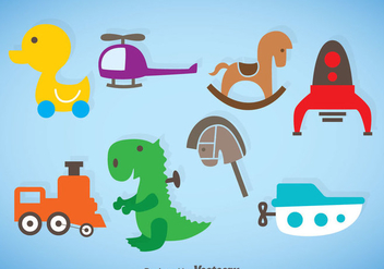 Kids Stuff Vector Set - Free vector #368351