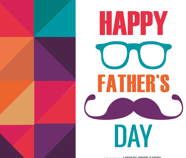 Polygonal Father's Day card - Free vector #368511