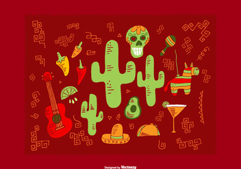 Mexican Element Vectors - Kostenloses vector #368581