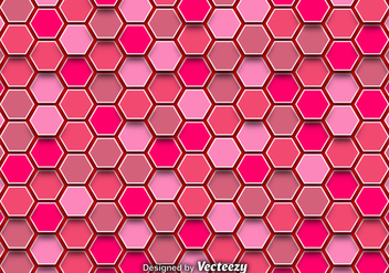 Abstract Background With Pink Hexagons - Free vector #368601
