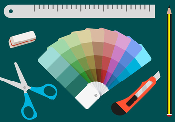 Color Swatches Printing Tools - vector #368621 gratis